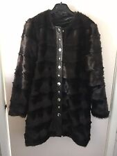 Zara Brown Long Faux Fur Coat Jacket Size Small Bloggers Ref. 2969/256 Retro