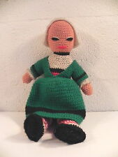 BECASSINE POUPEE ANCIENNE 38cm en crochet poupée artisanale art populaire