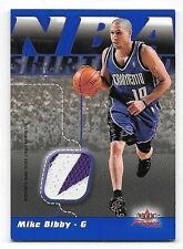 03/04 Fleer Focus NBA Shirtified #MB Mike Bibby 2 Color Nameplate Patch #22/50