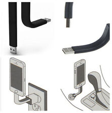 9.5cm Bendable Stand USB Data Sync/charger Cable For iPhone 6/6Plus/mini iOS7 BK