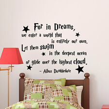 Wall Stickers Harry Potter Dumbledore For In Dreams we vinyl decal decor Nursery