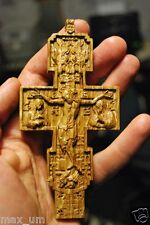 "4"" Pectoral Cross Wood Carved Religious christian gift"