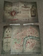 New Assassin's Creed Syndicate Double Sided Poster Map of London FREE UK P&P