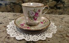 "KPM BONE CHINA ""MOTHER OF PEARL"" TEA CUP & SAUCER SET MADE IN JAPAN"