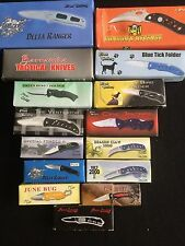 NIB 15 KNIFE BULK LOT #4 FROST FOLDING POCKET KNIFE ASSORTMENT STAINLESS