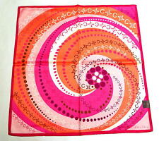 CELINE Handkerchief Hanky Pocket square L Pink Cotton Auth New Collectible RARE