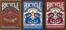 3 Deck set BLUE RED GOLD DRAGON BACK Bicycle 309 Playing cards, bold vibrant lot