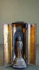 Very Fine Japanese Edo Meiji Period Traveling Buddha Shrine in Lacquer Case