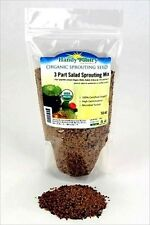 16 Oz-3 PART SPROUT SALAD MIX-ALFALFA- BROCCOLI- RADISH SEEDS- SPROUTING SPROUTS