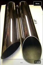 "3"" x 16"" stainless exhaust tips pair angle cut custom dual 2"