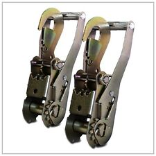 2 RATCHET HANDLES w/ SNAP HOOKS TOW DOLLY STRAPS