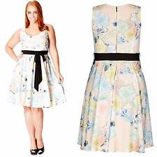 NEW! $119 Nordstrom City Chic Floral Spring Summer Dress Plus Size 24 26 XXL
