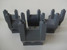 Lego Duplo - 6 x CASTLE TURRETS / BRICKS - Ideal 4 Tower, Fortress, Knights
