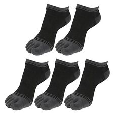 "5 Pairs Mens Five finger Low-Cut Toe Socks ""Skin contact surface is 100% cotton"""