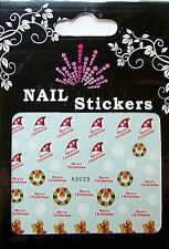 Christmas, Water Nail Sticker Tatoo, Weihnachten , AS025