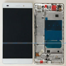 White Huawei P8 Lite ALE-L04 L21 LCD Display Touch Digitizer Assembly + Frame