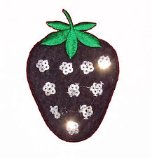 Strawbery Iron Patch Sew Embroidered Sequins Badge Cloth Sequin Patches #104