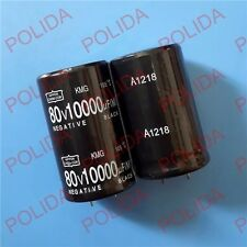 1PCS AUDIO Electrolytic Capacitor NIPPON size: 30*51mm 10000UF80V/80V10000UF