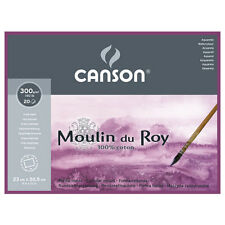 CANSON/FILA CO CN400014796  MOULIN DU ROY WATERCOLOUR 140LB HOT PRESS 9X12 20...