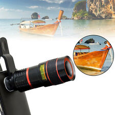 Clip-on 8x Zoom Optical Telescope Camera Lens Universal for Smartphone iPhone