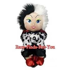 "Disney Parks Villain Cruella De Vil Babies Plush Doll Toy with Blanket 10"" (NEW)"