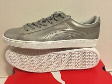 PUMA BASKET CLASSIC METALLIC - Men's LIFESTYLE sneakers SILVER