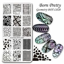 BORN PRETTY Nail Art Stamp Image Plate Goemetry Theme Manicure Template BPX-L020