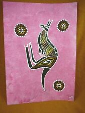 AUS-11 Kangaroo dark pink Australian Native Aboriginal PAINTING Artwork T Morgan
