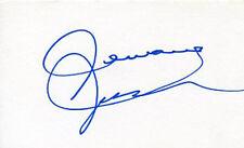AUTOGRAPHE SUR BRISTOL 12,5x7,5 de Jermaine JACKSON index card signed in person