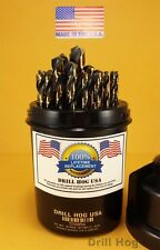 Drill Hog 29 Pc Drill Bit Set Index Molybdenum M7 MADE IN USA Lifetime Warranty