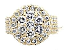 Men's 14K Yellow Gold XL Lollipop Dome Round Real Diamond Pinky Ring 10ct.
