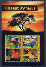 Togo 2014 MNH Birds of Africa 4v M/S Oiseaux Ostrich Roller Red Ibis Weaver