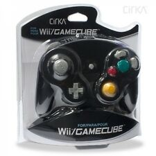 NEW Cirka Gamecube Black Controller Pad for Nintendo Shock Game GC Wii