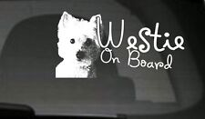 Westie On Board, Car Sticker, High Detail, Great Gift For Dog Lover