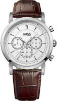 Hugo Boss Watch, Men's Chronograph Brown Leather Strap 42mm 1512871