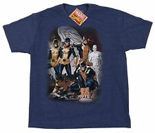 Marvel Comics Mad Engine Blue AVengers Men's X-Men Tee T-Shirt Size Large NWT