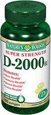 100 Vitamins D3-2000IU Nature's Bounty Bone Immune Colon Health Supplement NEW
