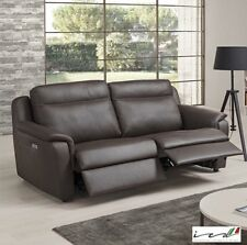 Cezanne Italian Leather Power Recliner 2 Seater Sofa Brown Natuzzi