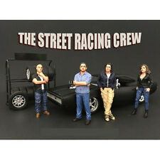 RACING CREW 4PC FIGURE SET 1:24 BY AMERICAN DIORAMA 77481,77482,77483,77484