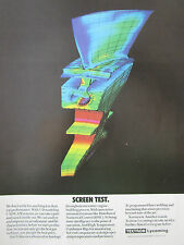 2/1989 PUB TEXTRON LYCOMING 3-D MODELING CAD/CAM AUBE GAS TURBINE ORIGINAL AD