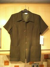 """New w/Tags Ladies Khaki  Jkt; S/Sleeves ,Size 16 ,Bust  38"""", Length 31"""""""