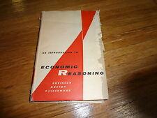 An Introduction to Economic Reasoning Hard Cover Book Copyright 1956