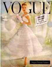 Vintage 50's VOGUE DESIGN ORIGINAL-CHANTILLY DRESS*WEDDING*PROM Sewing Pattern
