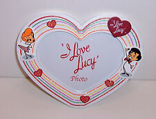 Licensed I LOVE LUCY & RICKY White WOOD HEART PHOTO Picture DESK FRAME NEW!!