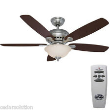 Hampton Bay Southwind 52 in. Brushed Nickel Ceiling Fan Remote 813875 - New