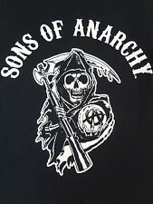 SONS OF ANARCHY - REAPER LOGO - SMALL BLACK T-SHIRT J542