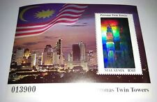 1999 Malaysia Petronas Twin Towers Building KLCC Mini-Sheet Hologram Stamp Mint