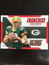 2015 Score Football Franchise Aaron Rodgers Red