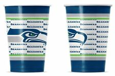 Seattle Seahawks Disposable Paper Cups - 20 Pack [NEW] NFL Party Tailgate