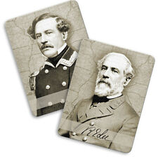 American Civil War General Robert E Lee Changing Image Fridge Magnet Note Holder